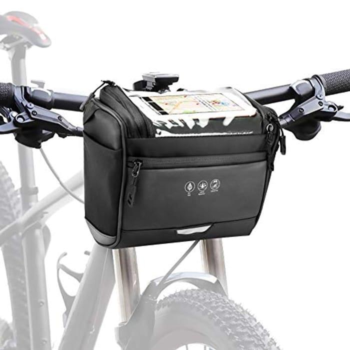 Maxjaa Bike Handlebar Bag with Detachable Shoulder Strap