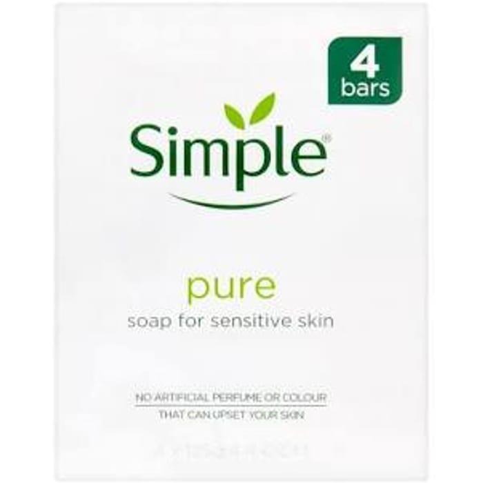 Simple Pure Sensitive Skin Soap Bars 4x125g