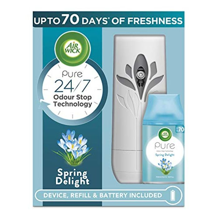 Air Wick Air Freshener Freshmatic Auto Spray Gadget and 1 Refill, Spring Delight