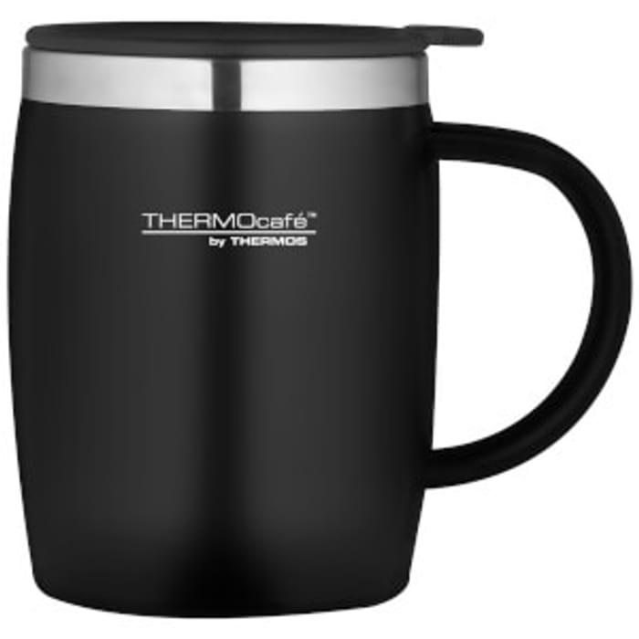 Thermos ThermoCafe Soft Touch Desk Mug - Black - 450ml