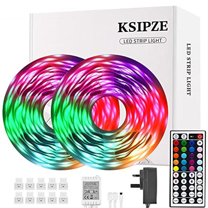 Ksipze Led Strip Lights 15m RGB Led Lights SMD 5050 - Only £6.29!