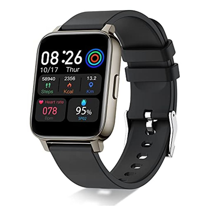 """DEAL STACK - Smart Watch, 1.69"""" Full Touch Screen Fitness Tracker + £10 Coupon"""