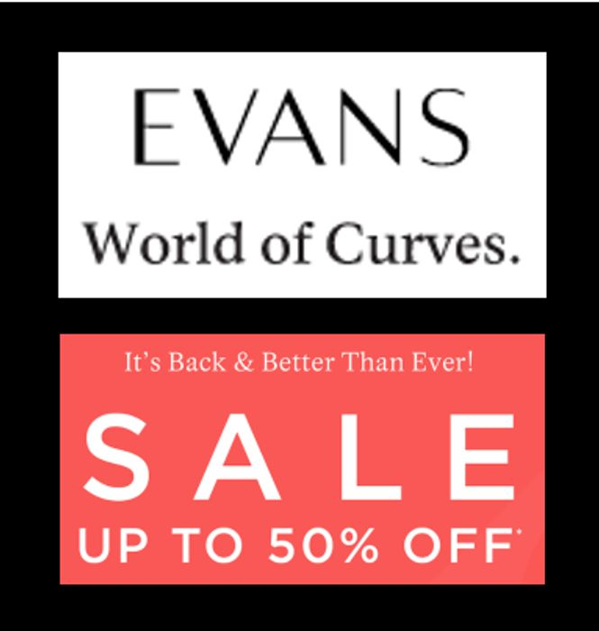 EVANS SUMMER SALE - up to 50% OFF