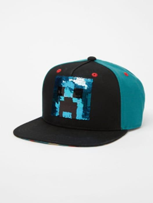 Minecraft Swipe Sequin Snapback Cap