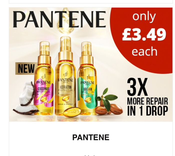 Pantene Dry Oil Repair and Protect,Smooth and Sleek,Coconut Infused 100ml