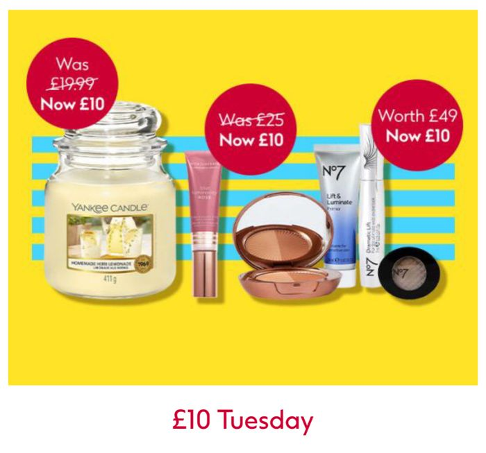 £10 Tuesday + Free Hand Sanitiser with Your £10 Tuesday Purchase - Online Only