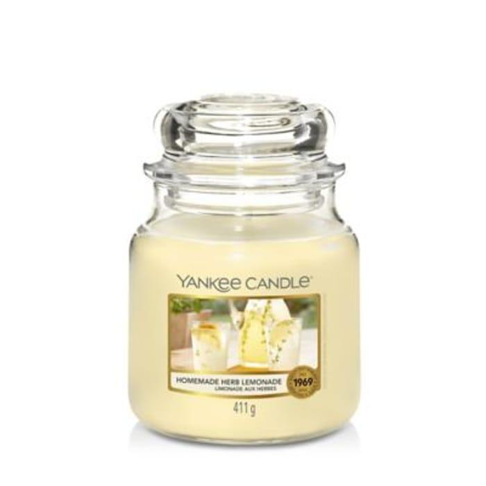 Yankee Candle Medium Jar Scented Candle - Homemade Herb Lemonade