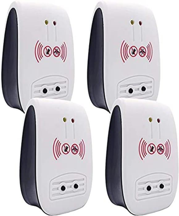 YYG Ultrasonic Plug-in Pest Repeller, 4 PacksWhite- Only £7.99!