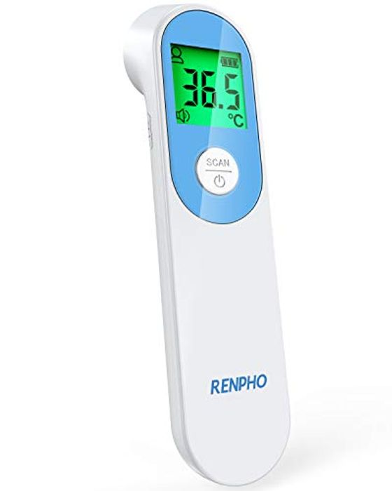 Non-Contact Infrared Forehead Thermometer W/ LCD Display