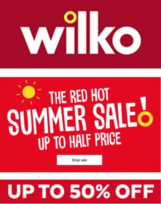 WILKO SUMMER SALE - up to 50% OFF