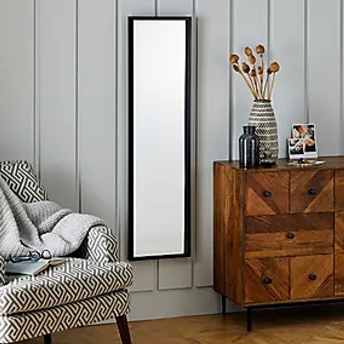 Essentials Full Length Mirror 122x32cm Black