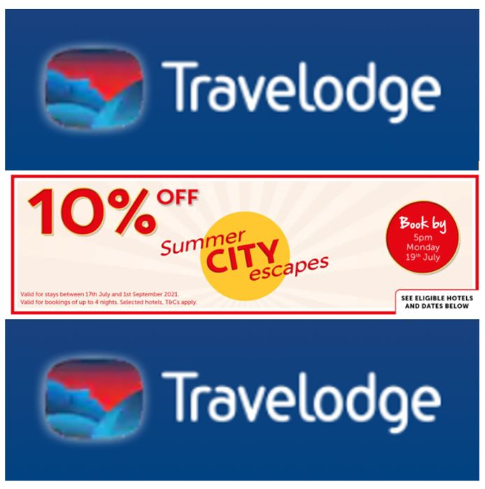 Travelodge - 10% Off Summer City Breaks Rooms From £21.59 + Best Price Tool