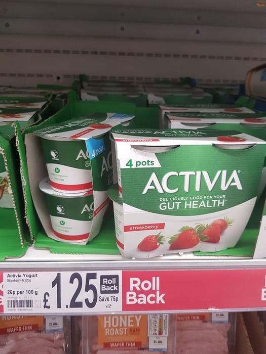 Activia Strawberry Yogurts  4x120g
