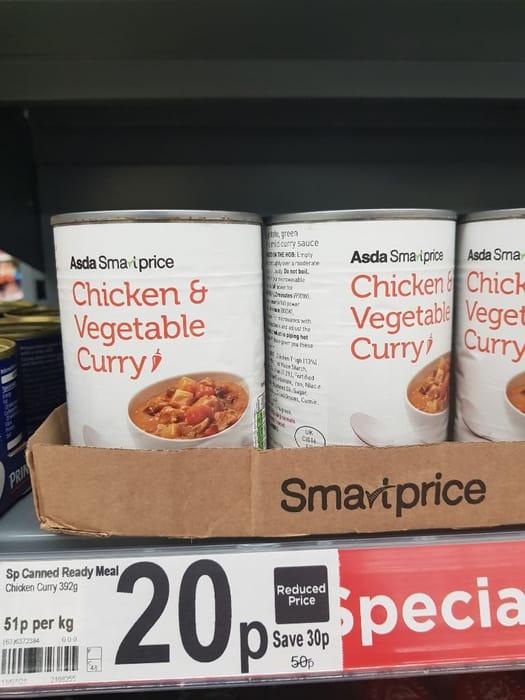 ASDA Smart Price Chicken & Vegetable Curry  392g