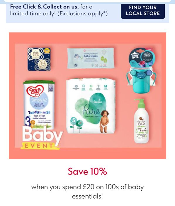CHEAP! Baby Event;Save 1/3 Pampers Wipes,6 for £30/Nappies,save 20%