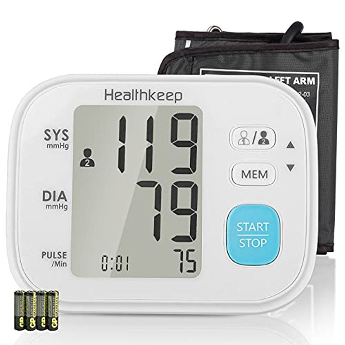 DEAL STACK - LCD Display Blood Pressure Monitor with Cuff 22-32cm + 20% Coupon