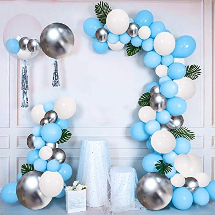 DEAL STACK - Magic4U 126 Pcs Latex Blue Balloon Arch Garland Kit + 15% Coupon