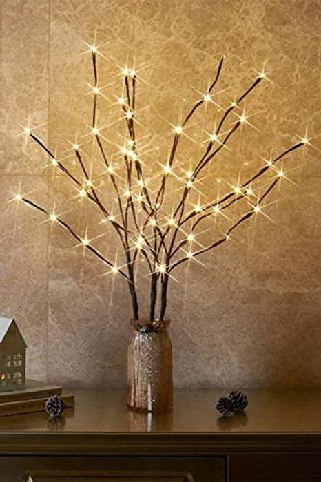 EAMBRITE 3PK 76cm Home Decorative Garden Stake Twig Lights - Only £7.50!