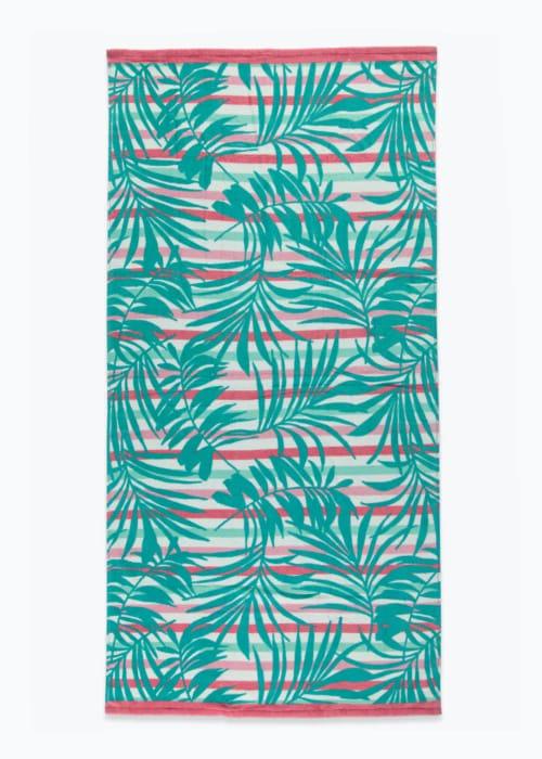 CHEAP! Palm Print Beach Towel at Matalan