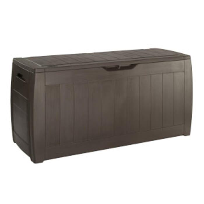 Keter Hollywood Outdoor Plastic Garden Storage Box 270L - Brown