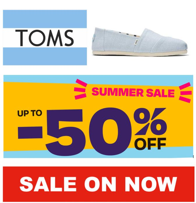 TOMS SUMMER SHOE SALE - up to 50% OFF