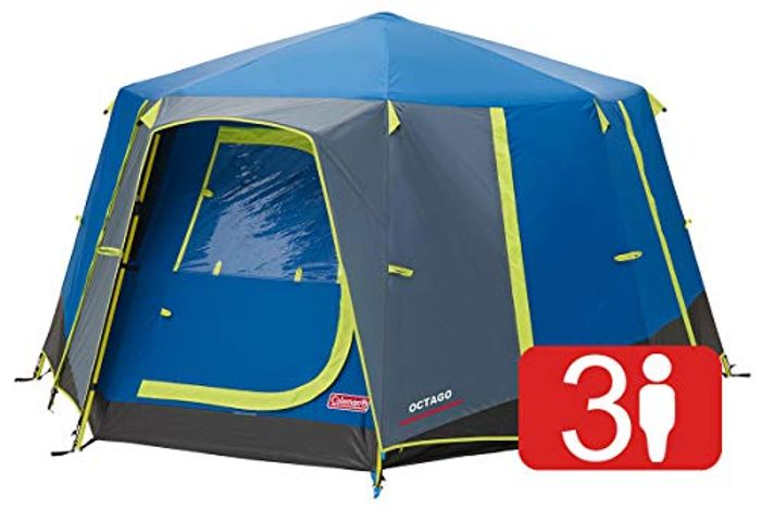 Coleman Tent Octago, 3 Man Tent Ideal for Camping in the Garden