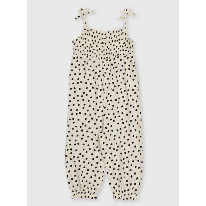 White Polka Dot Jumpsuit - 1.5-2 Yearstuc138730031