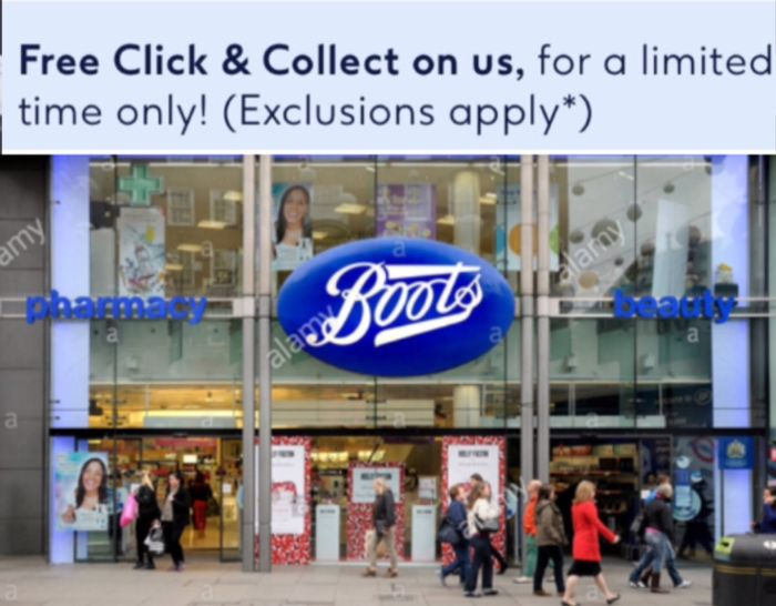 Free Click & Collect for a Limited Time Only! (Exclusions Apply*)