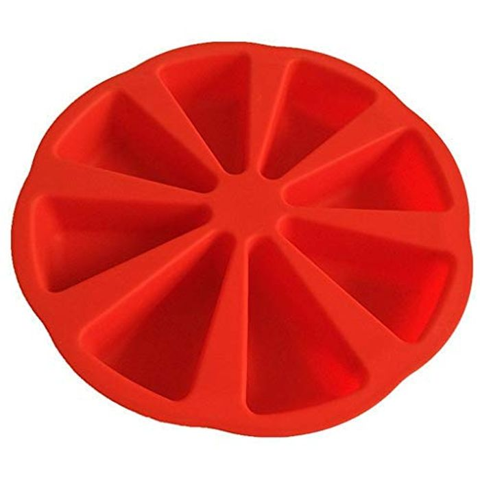 ODJOY-FAN Silicone Cake Mold 8 Triangle Cavity Cakes with £5 off Coupon