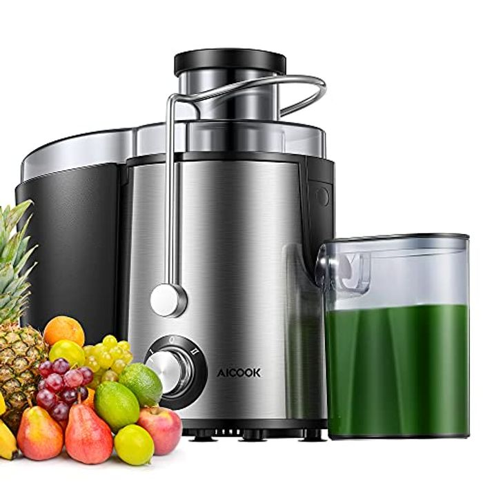 Juicer Machine with Wide Feed Chute Stainless Steel Juicer Extractor 2 Speed