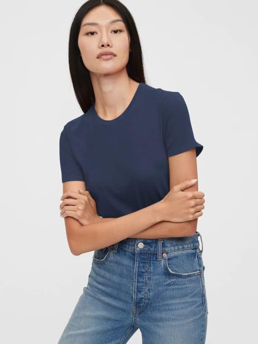 Shrunken T-Shirt - Color: Blue Night