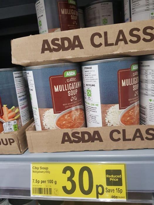 ASDA Classic Mulligatawny Soup  400g