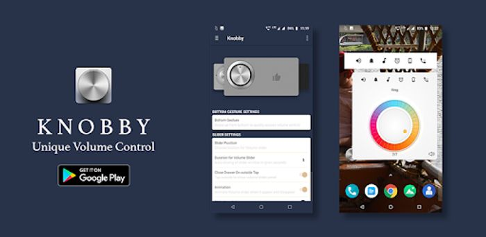 Knobby Volume Control - Unique Volume Widget App