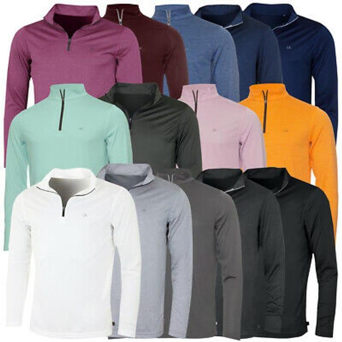 Calvin Klein Golf Mens 2021 Harlem 1/4 Zip Technical CK Sweater 26% OFF