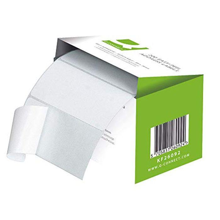 Q-Connect Easi Peel Address Label - Roll of 200 - Only £1.79!