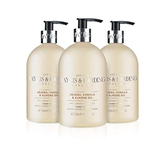 Baylis & Harding Jojoba, Vanilla and Almond Oil Hand Wash, 500 Ml, Pack of 3