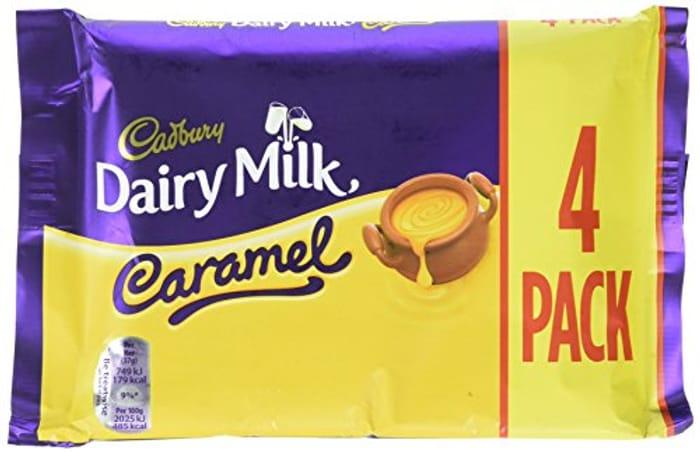 Cadbury Dairy Milk Caramel Chocolate Bar 37 G (Pack of 4)