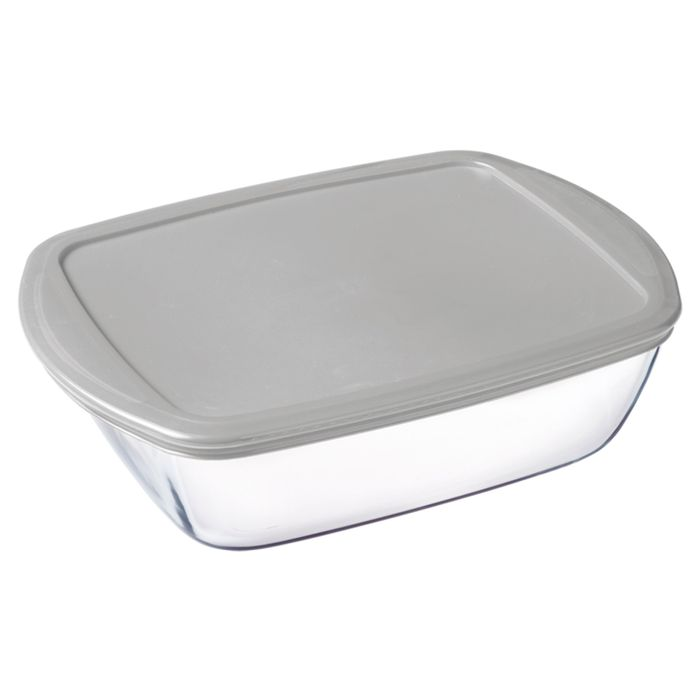 Pyrex Rectangle Dish plus Lid Silver 1.1L