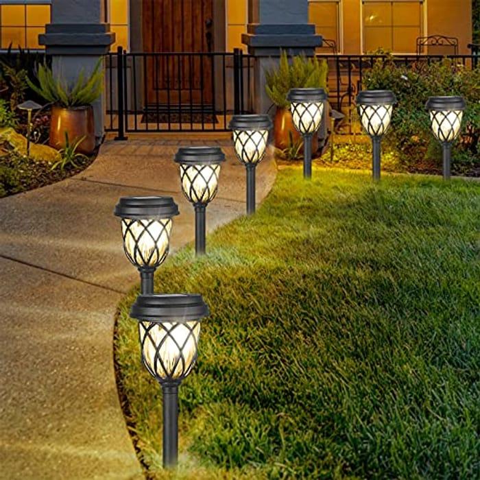 Jooayou Garden Path Solar Lights, IP65 Waterproof