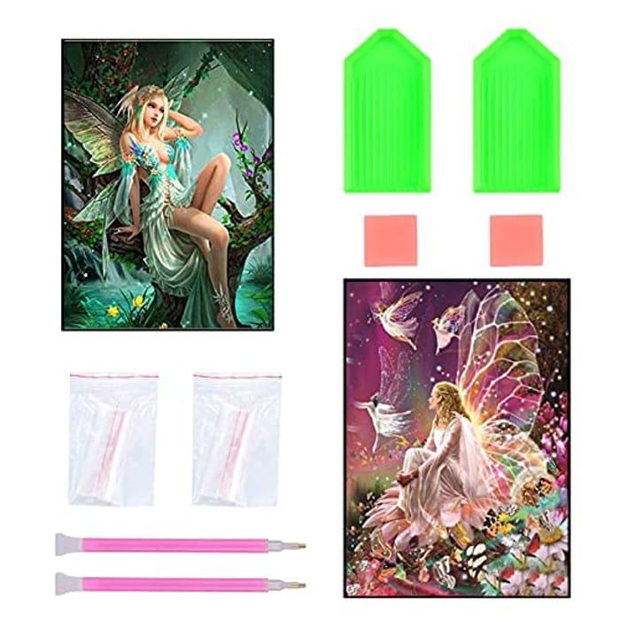 2 Pcs 5D DIY Diamond Painting Kits