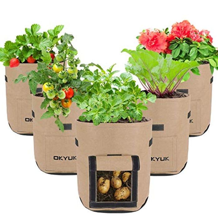 Potato Vegetables Grow Bags - 5 Pack 7 Gallon