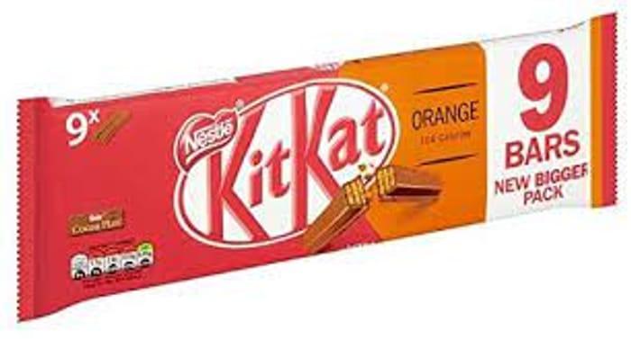 Kitkat 2 Finger Bars Orange/Dark Mint/Chocolate £1 at Asda