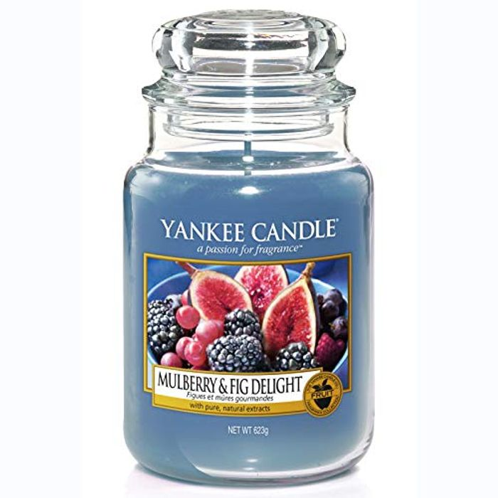 SAVE £11.05 Yankee Candle Large Jar Scented Candle | MULBERRY & FIG DELIGHT