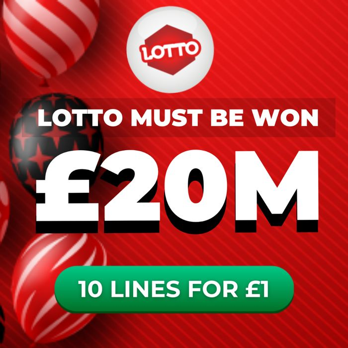 MUST WIN! National Lottery - £20 Million Jackpot 10 Lines - £1 at Lottosocial
