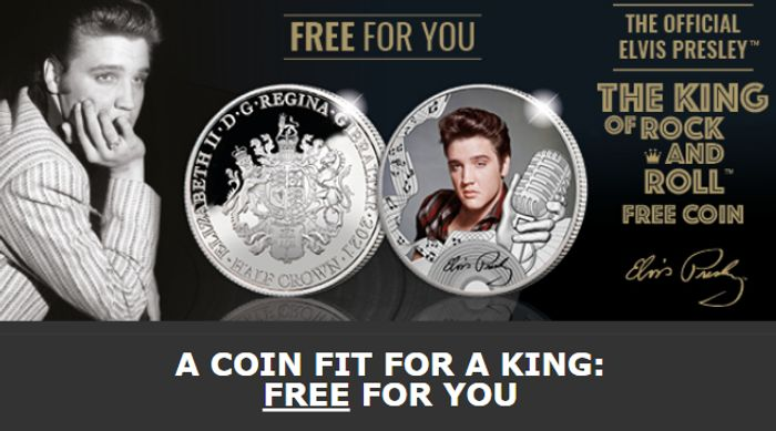 Free Official Elvis Presley Coin *Just Pay P&P