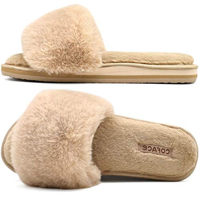 DEAL STACK - COFACE Womens-Fluffy-House-Slippers + 10% Coupon