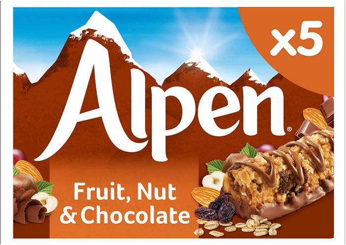 Alpen Fruit and Nut with Milk Chocolate 5 X Bar Mulipack 145g