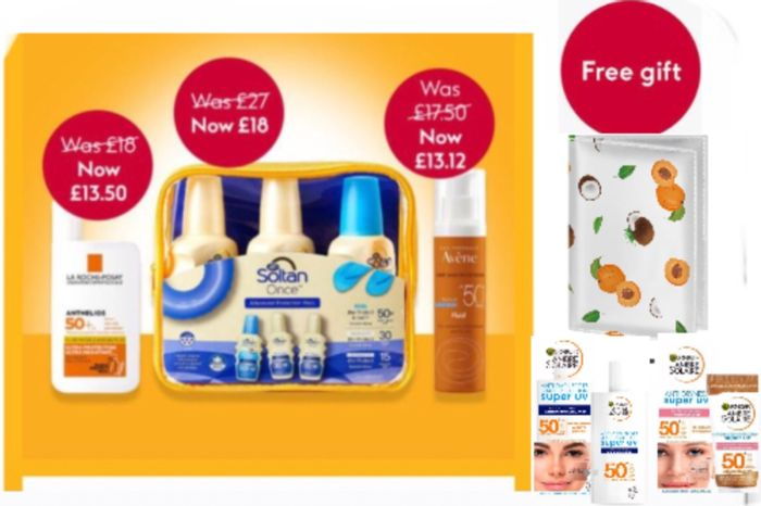 Save 25 % on La Roche,Free Passport Cover Buy Selected Ambre Solaire from £3