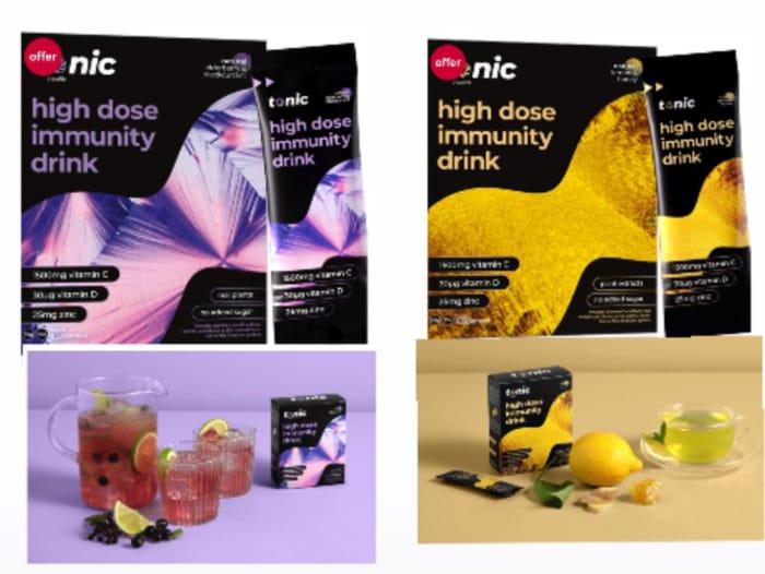 Tonic Health Elderberry Blackcurrant/Lemon Honey Sachets vitamin C,D,Zinc10