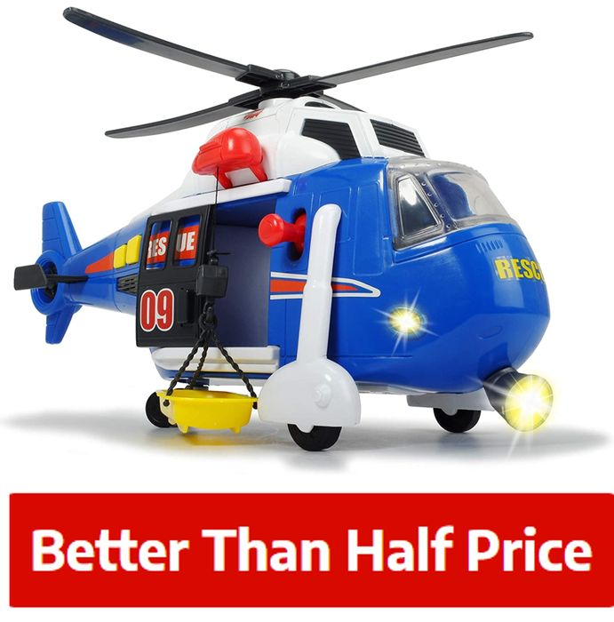 £12 OFF - Simba Rescue Helicopter - WINCH, LIGHTS & SOUND